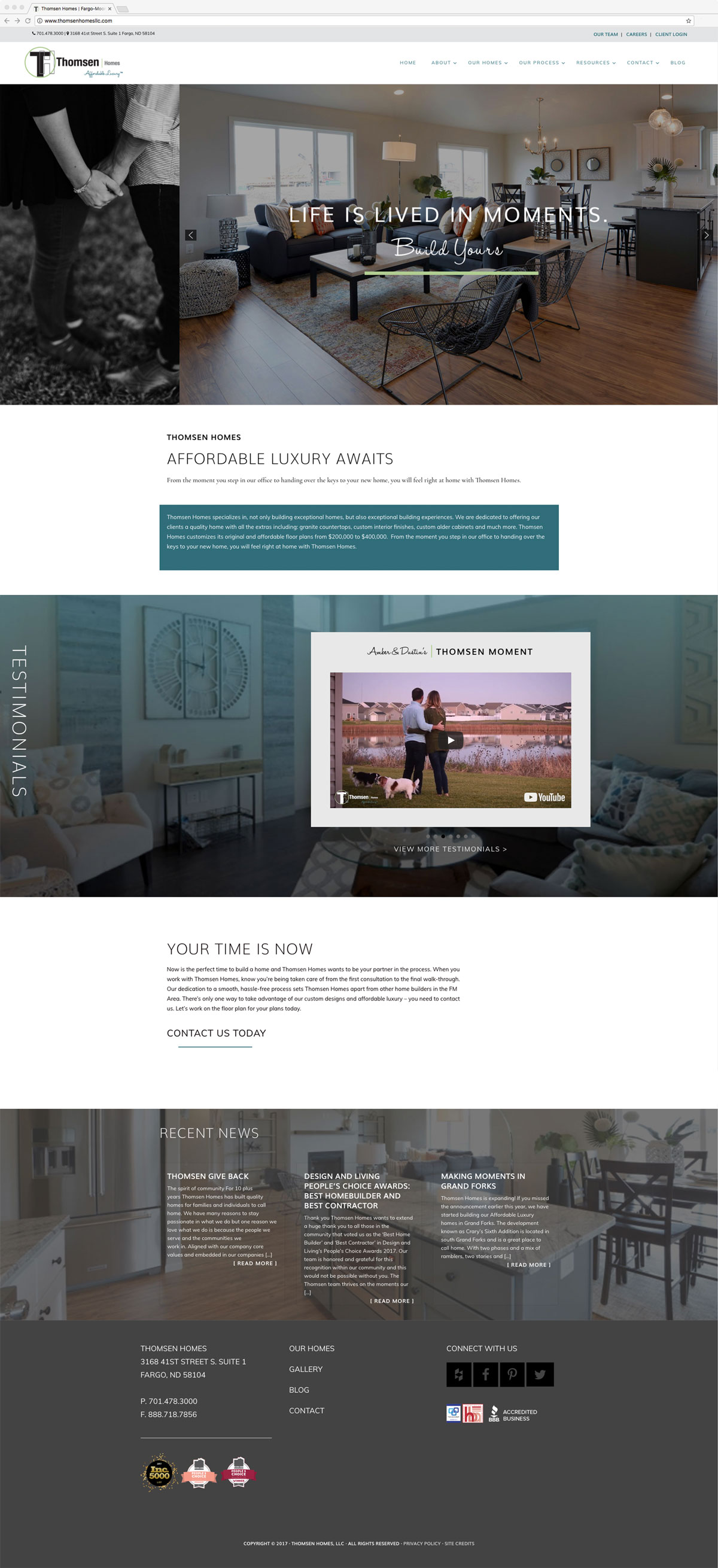 home web design. Thomsen Homes  Web Design WordPress Fargo ND Stacey