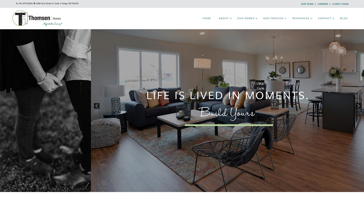 Thomsen homes web design wordpress fargo nd for Fargo nd home builders