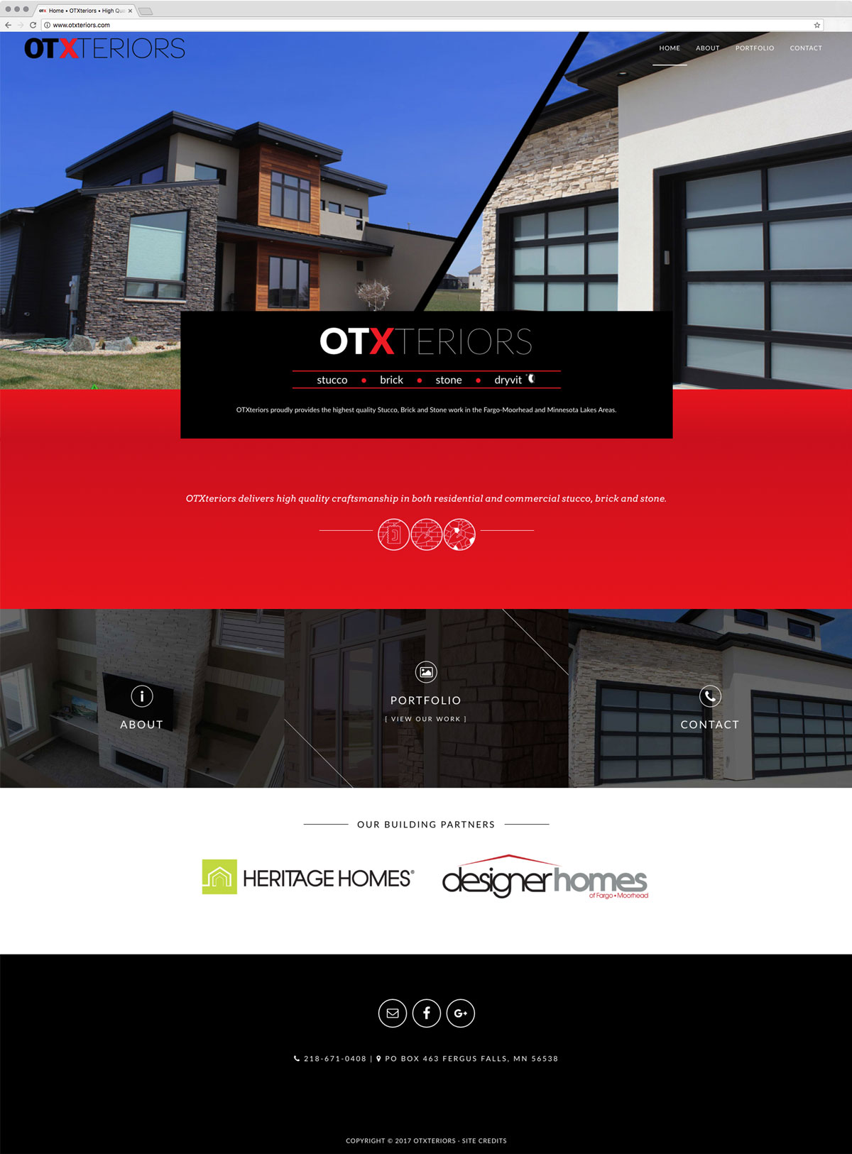 OTXteriors » Web Design + WordPress | Fargo, ND | Stacey Bartron ...