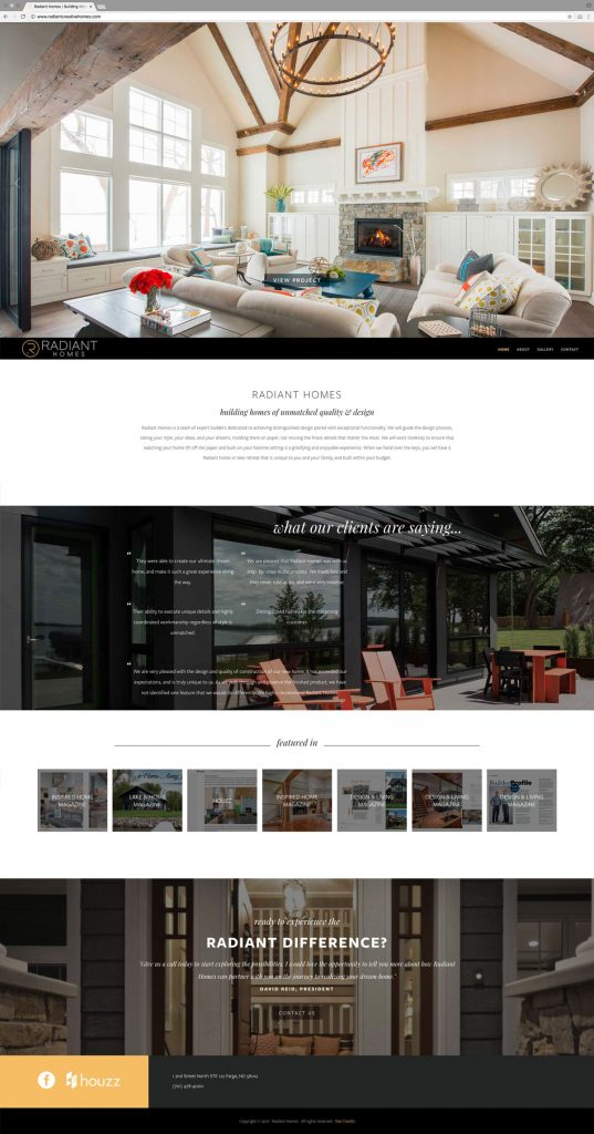 Radiant Homes Home Page