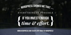 Blog Image for Road to WordPress