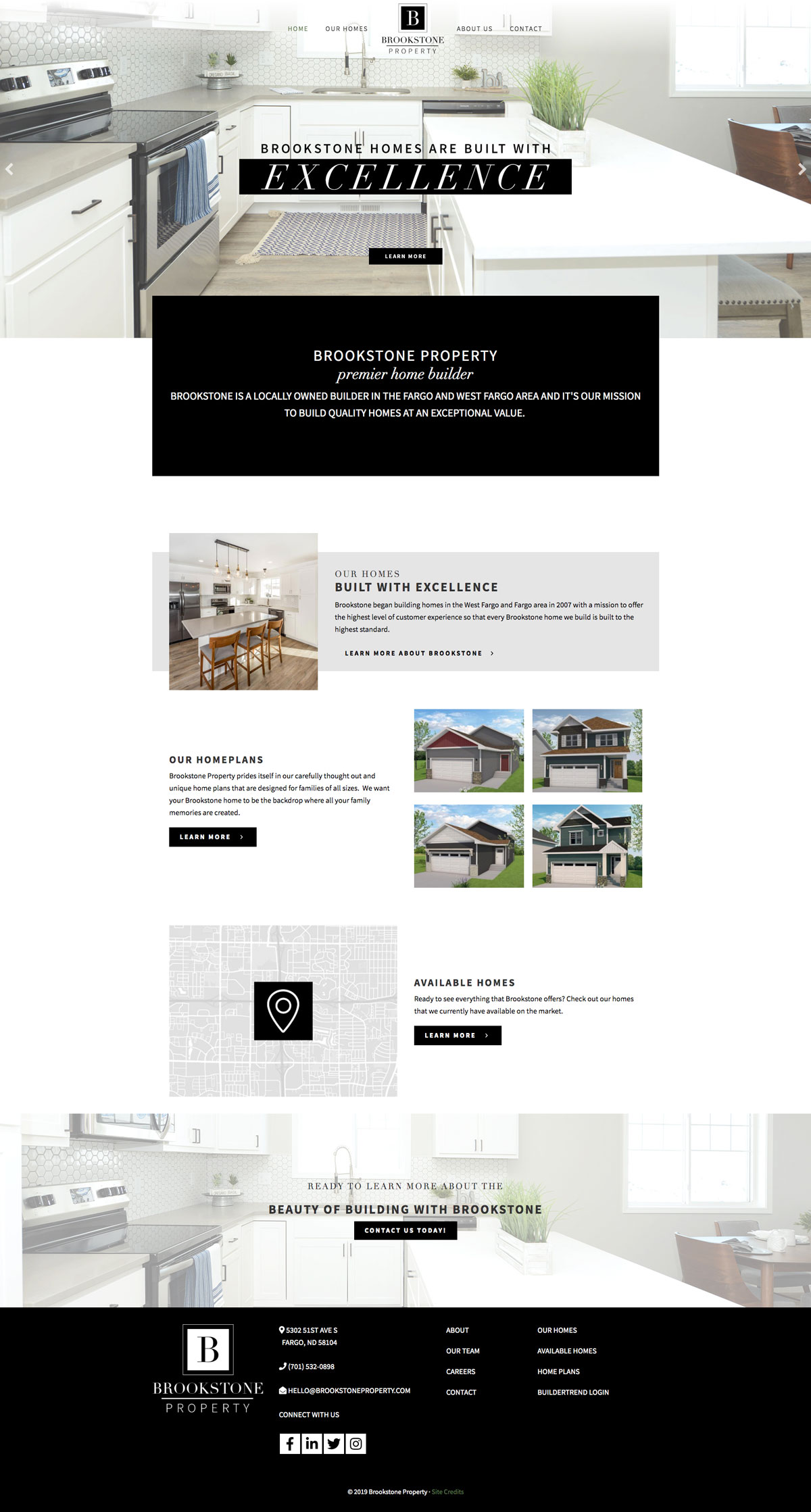 Brookestone Property Home Page screenshot