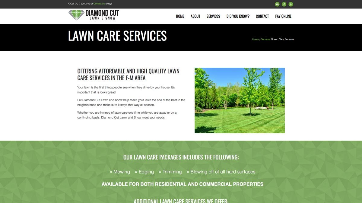 Diamond-Cut-Website-Design-Lawn