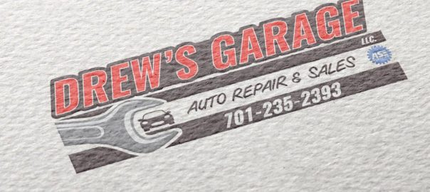 Drew's Garage Logo Design