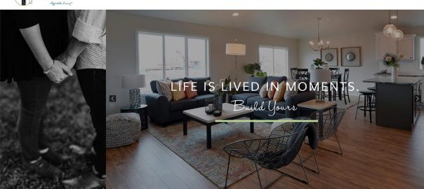 Thomsen Homes Home Page Design Featured Image