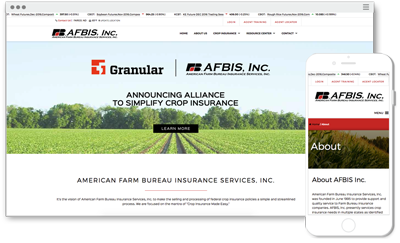Screenshot of AFBIS, Inc. Website