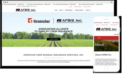 Screenshot of AFBIS, Inc. Website