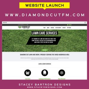 Website Launch for Diamond Cut Lawn and Snow